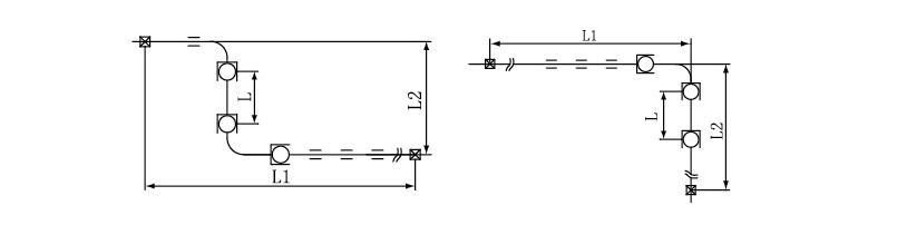 球形补偿器布置形式
